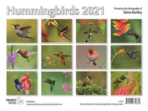 Hummingbirds 2021 Calendar Back Cover