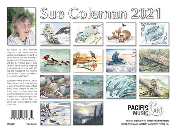 Sue Coleman 2021 Calendar backcover
