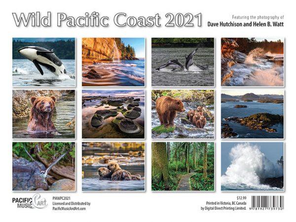 Wild Pacific Coast 2021 Calendar