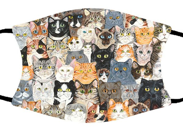 Cat Collage face mask