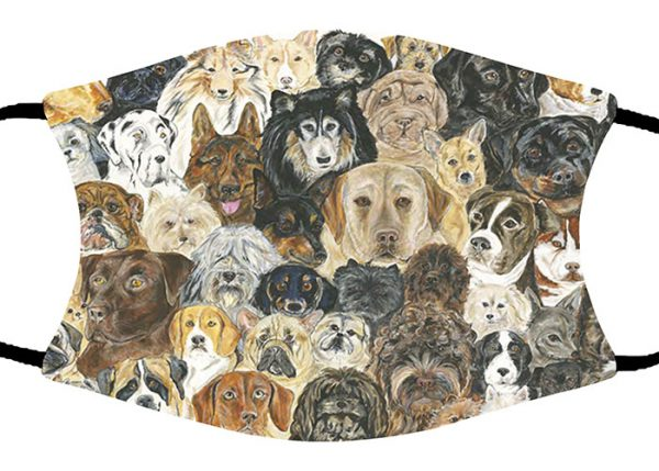 Dog Collage face mask