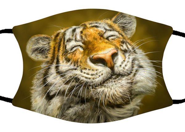 Smiling Tiger face mask