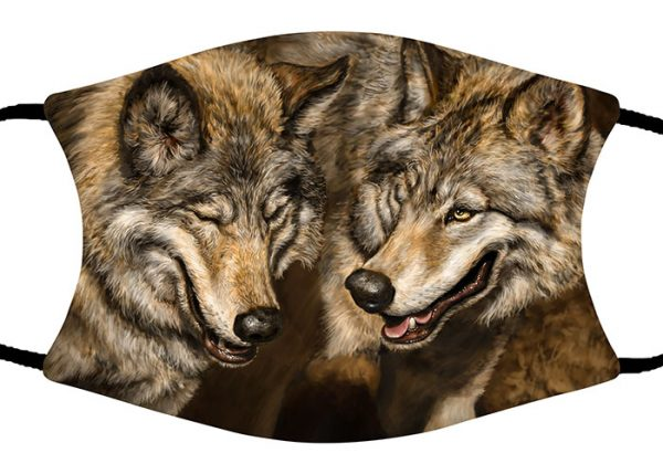 Two Wolves face mask