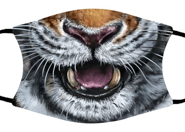 Amur Tiger face mask