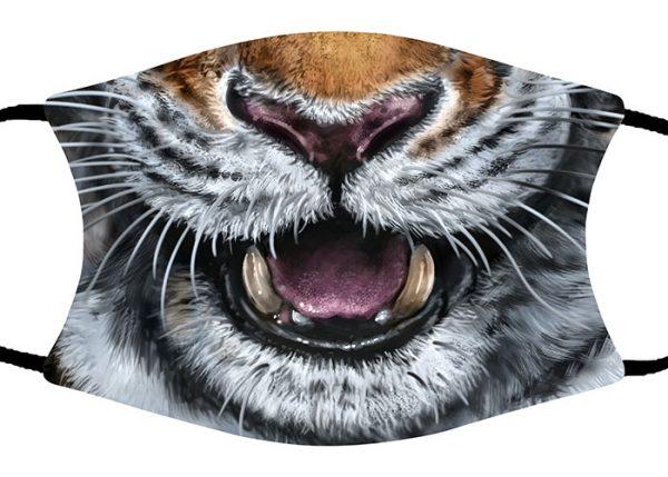 Amur Tiger face mask