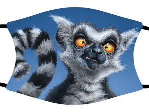 Ring Tail Lemur face mask