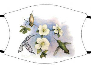 Dogwood & Hummingbird face mask