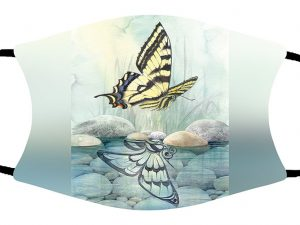 Butterfly Reflection face mask