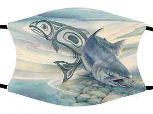 Salmon Stream face mask