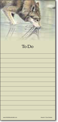 Wolf Art Pad - To Do