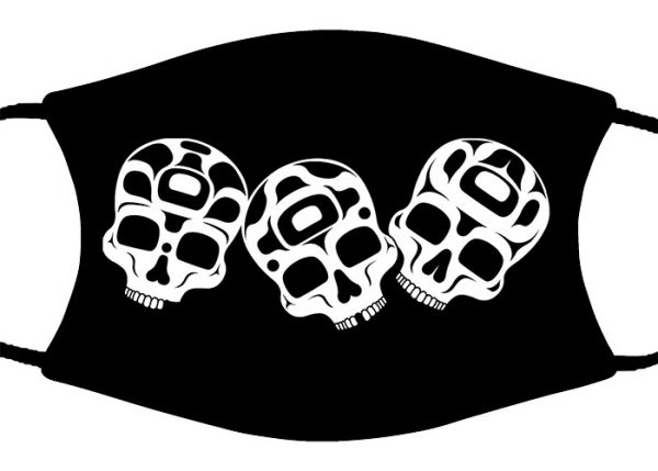 The Story is in the Soil (Skulls) face mask