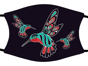 Hummingbirds face mask