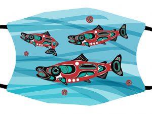 Salmon Run face mask