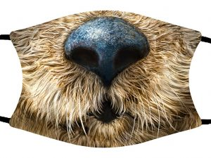 Otter (Face Close-up) face mask