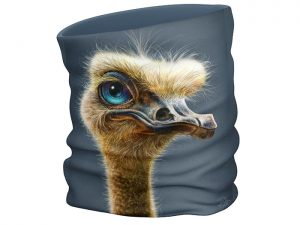 Ostrich face scarf