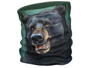 Black Bear face scarf