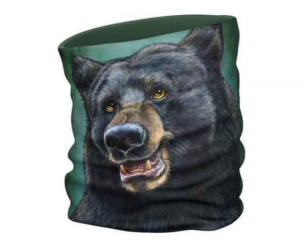 Black Bear face scarf