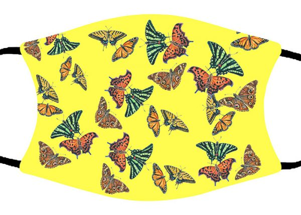 Butterfly Collage face mask