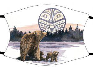Bear and Cubs face mask