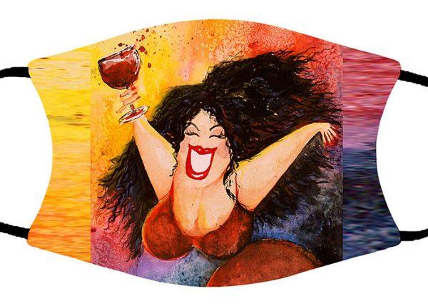 Wine Diva face mask
