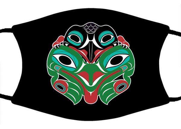 Baby Raven & Frog face mask