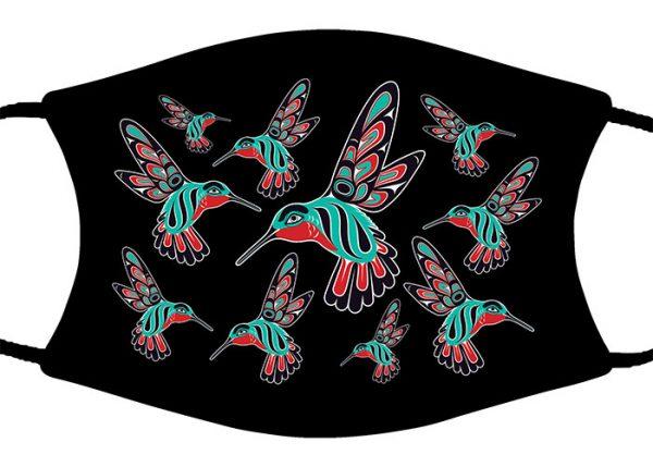 Hummingbird Wallpaper face mask