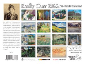 PMEC2022 Emily Carr Calendar 2022 back cover
