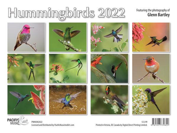 Hummingbirds 2022 Calendar Back Cover