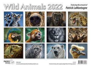 PMPL2022 Wild Animals Calendar 2022 back cover