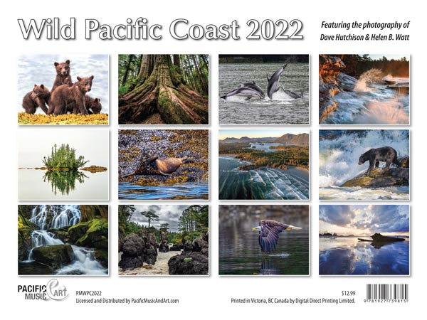 PMWPC2022 Wild Pacific Coast Calendar back cover