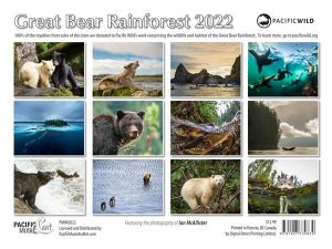 PMIM2022 Great Bear Rainforest Calendar 2022 back cover